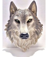 """Large Wolf Head Resin Plaster Plaque Wall Mount 17"""" Tall  - $69.99"""
