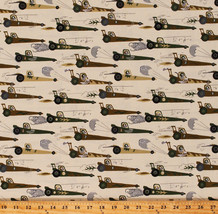Race Cars Dragsters Racecars Rat Race Redux Kids Cotton Fabric Print BTY... - $11.95