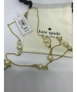 NWT Kate spade necklace cream multi pearly delight O0RU1450 - $49.95