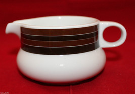 Mid Century Modern Vintage Rosenthal Thomas Germany White Brown Stripes Creamer - $40.45