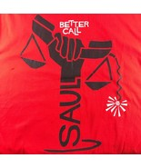 NWT Mens Red Cotton BETTER CALL SAUL tipped scale t shirt sz XL - $24.74