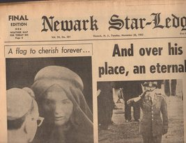 Newark Star-Ledger Newspaper 1963 Tuesday November 25, 1963 - $4.50