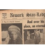 Newark Star-Ledger Newspaper 1963 Tuesday November 25, 1963 - $2.95