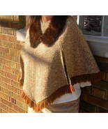 Mink Collar Vintage Fur Stole Dark Chocolate Brown - $19.99