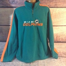 Reebok Miami Dolphins Men's Large Green Pullover Half Zip Fleece Sweatshirt - €12,74 EUR