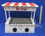 Nostalgia Old Fashioned Electric Hot Dog Roller Cooker Bun Warmer Red White