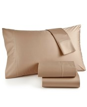 New Hotel Collection 525 Thread Count Twin XL Sheet Set Solid Light Bron... - $97.95