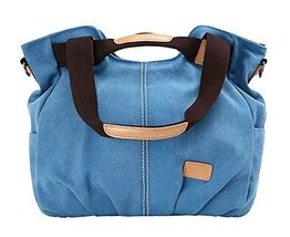Modern Canvas Bag Handbag Shoulder Bag Unique Cross Body Bag BLUE