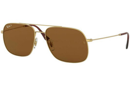 RAY BAN RB3595-901383-59  Sunglasses Size 59mm 145mm 17mm Gold Brand New SUNGLA - $86.39
