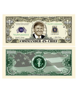 Pack of 25 - Donald Trump Presidential Novelty Dollar Bills Commander In... - $9.85