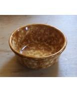 Small Stoneware Brown Spongeware Spatterware Bowl - $9.00