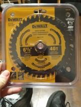 """DEWALT DWA161240 6-1/2"""" X 40 Tooth Precision Cutting Finishing Carbide Saw Blade - $17.10"""