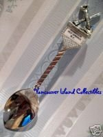 HARRISON HOT SPRINGS BC. Souvenir Spoon AXE SHOVEL