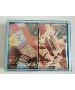 Hallmark Souvenir of the Bahamas Playing Cards Double Deck Hard Case NEW... - $9.49
