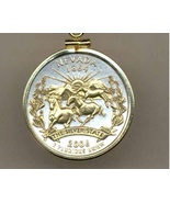 State of Nevada , 2-Toned, Gold on Silver, U.S. Quarter Pendant Necklace - $85.00