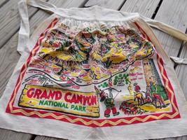 VINTAGE CACTUS CLOTH APRON Grand Canyon Nat'l Park 1940s SOUVENIR RETRO ... - $19.00