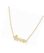 Name Necklace Personalized 14K Gold Plated Initial Chain Pendant - $15.03+