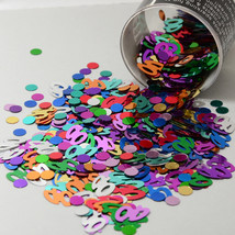 Number 40 and Circles Multicolor Confetti Bag 1/2 Oz FREE SHIPPING CCP9003 - $4.99+