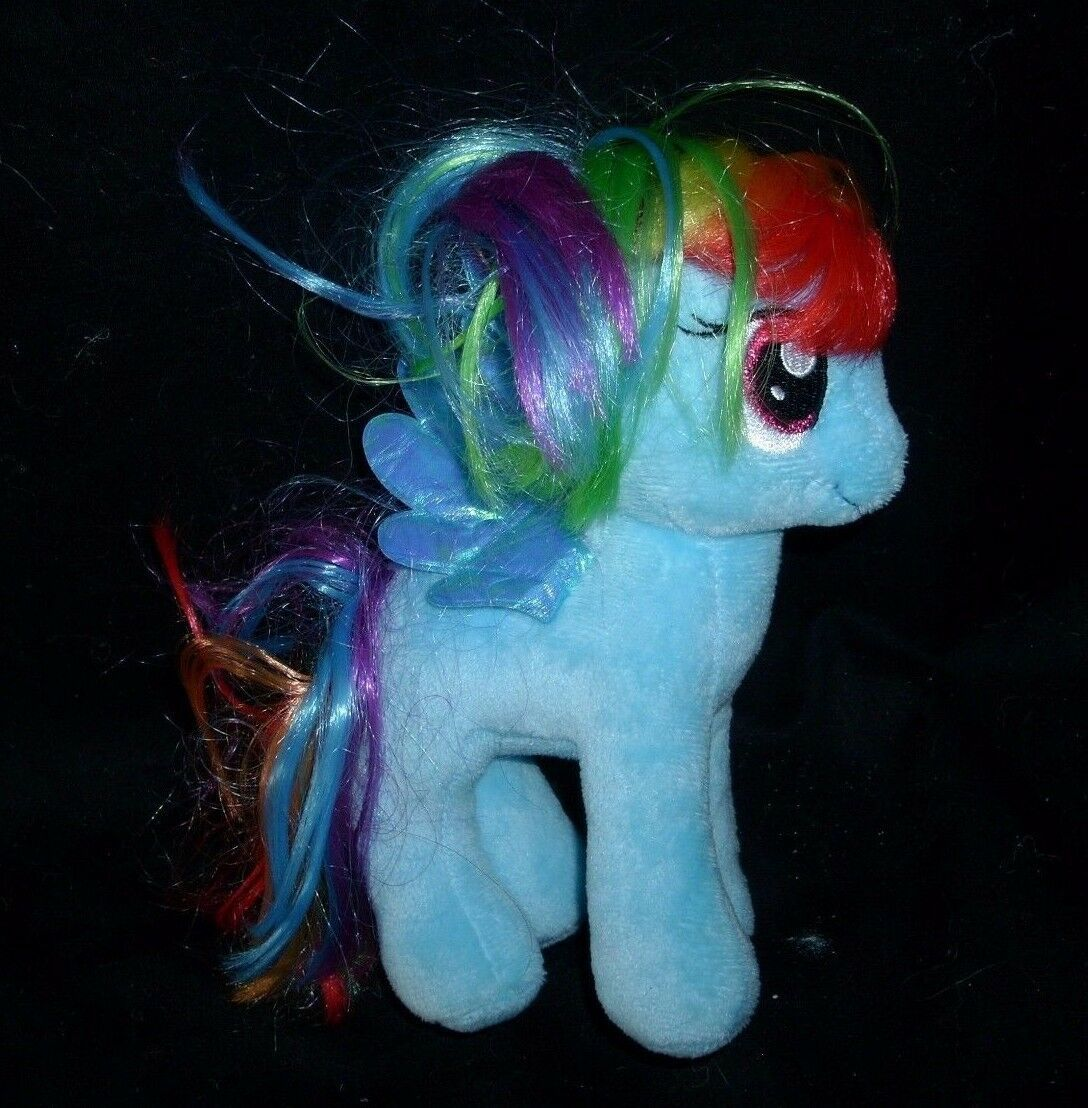 LOT 3 MY LITTLE PONY PONIES RAINBOW DASH APPLEJACK TY STUFFED ANIMAL PLUSH TOY image 5