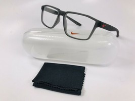 New NIKE NK5003 070 Matte Anthracite Eyeglasses 53mm with Case - $58.16
