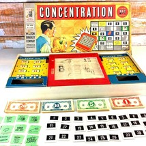 Vintage 1958 Concentration NBC TV Game 1st Edition Complete Milton Bradl... - $19.79
