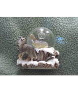 Wolf water globe - $10.00