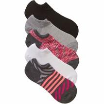No Boundaries No Show Socks 5 Pair Women's Shoe Size 4-10 Stripes  #20 - $9.89