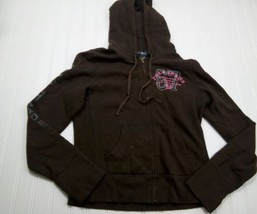 Girls size medium M hoodie jacket Brown polo jeans misc15 - $1.79