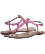 Sam Edelman Pink Ankle Buckle Flat Thong Toe Sandal Shoes Womens Size 6.... - $67.72