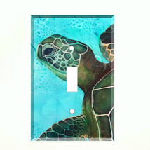 Sea Turtle Ocean Life Light Switch Plate Wall Cover Tropical Decor Blue - $6.88+