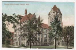 Central High School Detroit Michigan 1908 postcard - $5.94