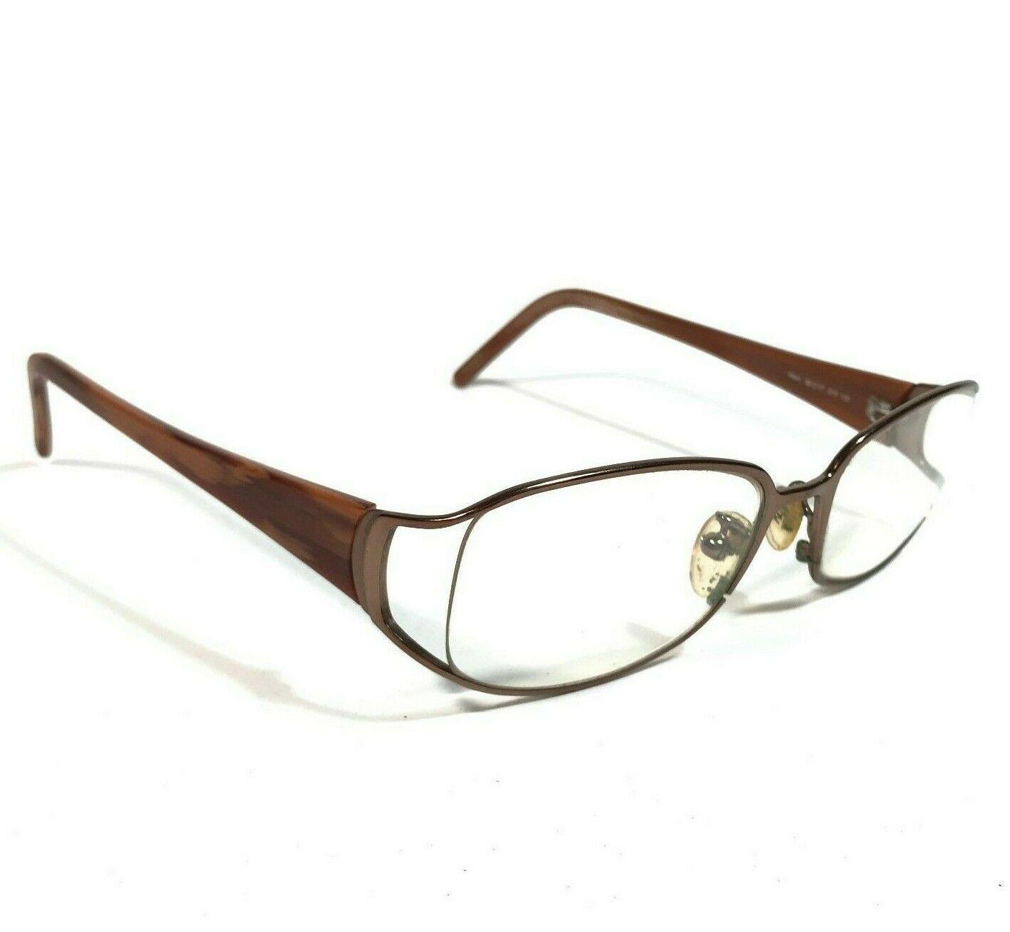 Fendi Brown Horn Oval Semi Rimmed Eyeglass FRAMES ONLY F641 210 52 17 130 V34 - $46.75