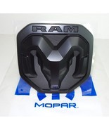 NEW 2019 Dodge Ram 1500 MATTE BLACK RAMs Head Logo Tailgate EMBLEM, OEM ... - $39.95