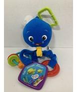 Baby Einstein blue Activity Arms sailor octopus plush stuffed baby toy clip - $4.95
