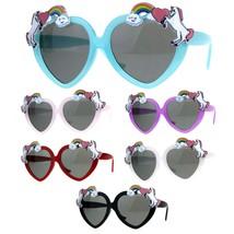 Children Size Girls Rainbow Unicorn Heart Shape Sunglasses - $9.95