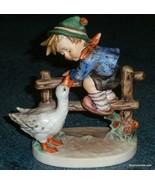 """""""Barnyard Hero"""" Goebel Hummel Figurine #195/I TMK6 Boy With Duck CHRISTM... - $121.24"""