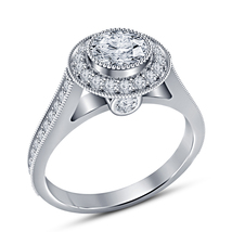 Women's White Gold Plated 925 Sterling Silver Round Cut CZ Women's Wedding Ring - $80.25