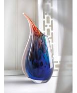 15134 SHIPS FREE Accent Plus Blue Dreamscape Art Glass Vase - $44.39