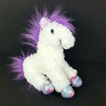 """Melissa & Doug Misty Unicorn White Purple Plush Shimmer Horn Hooves 12"""" Fluffy - $11.38"""