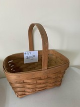 "1992 Longaberger Basket 11"" top of handle x 11"" x 7 3/4"" width - $15.00"
