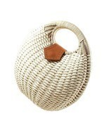 Straw Handbag Summer Beach Bag Woman Handbag Rattan Nest Tote Gift Acces... - £22.68 GBP