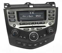 2005-07 Honda Accord AM FM Radio 6 Disc CD w Temp Controls 39175SDRA210M... - $247.49