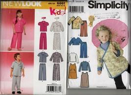 5391 6861 lot children uncut sewing patterns pj dress pants jacket sz 3 ... - $9.00