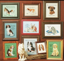 Cross Stitch Tailwaggers #1 Dog Puppy Sayings Jeanette Crews Designs Pat... - $13.99