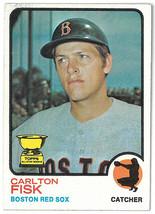 Carlton Fisk 1973 Topps Boston Red Sox Baseball Trading Card #193- minor wear-ve - $6.95