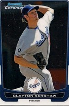 2012 Bowman Chrome #45 Clayton Kershaw Los Angeles Dodgers Baseball Card - $2.00