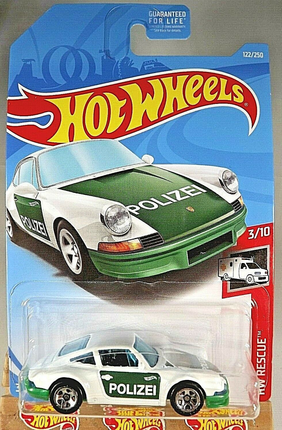 2019 hot wheels 122 hw rescue police 39 71 porsche 911 white green w 5 spokes contemporary. Black Bedroom Furniture Sets. Home Design Ideas