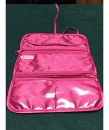 Vintage Mary Kay Makeup Roll Up Travel Bag or Jewelry Case Hot Pink - $10.00