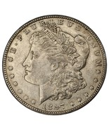 1897-O Morgan Dollar in AU Condition, Nice Eye Appeal, Strong Luster - €131,01 EUR