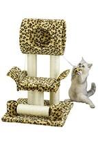 Go Pet Club Cat Tree Condo House, 18W x 17.5L x 28H Inches, Leopard - $30.24